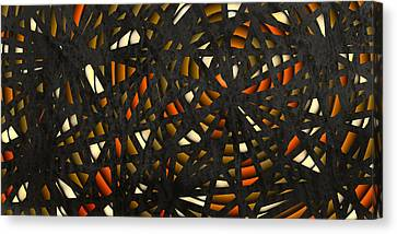 Canvas Print featuring the digital art Shattered  by Shabnam Nassir