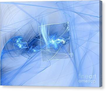 Canvas Print featuring the digital art Shattered by Victoria Harrington