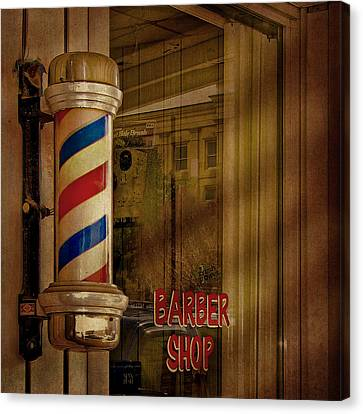 Shave And A Haircut Two Bits  Canvas Print by David and Carol Kelly