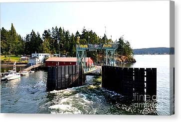 Shaw Island Ferry Terminal Canvas Print by Tanya  Searcy