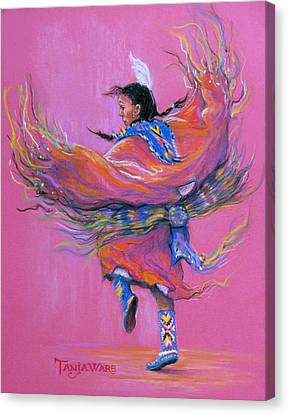 Shawl Dancer Canvas Print by Tanja Ware