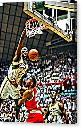 Shawn Kemp Painting Canvas Print by Florian Rodarte
