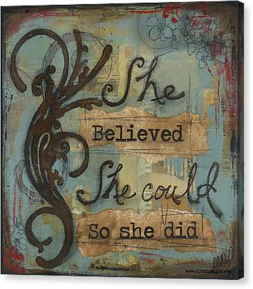 She Believed Canvas Print by Shawn Petite