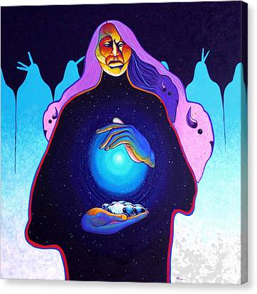 She Carries The Spirit Canvas Print by Joe  Triano