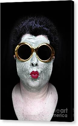 She Couldnt Achieve Her Glam Looks Without A Battery Of Beauty  Canvas Print by Amy Cicconi