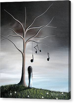 She Cried A Song For You Today By Shawna Erback Canvas Print by Shawna Erback