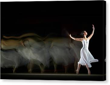 Performers Canvas Print - She in Motion by Andre Arment