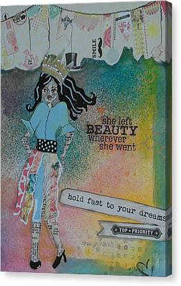 She Left Beauty Canvas Print by Debbie Hornsby