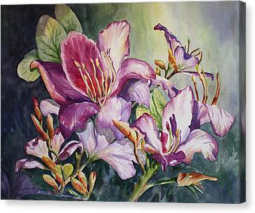 Canvas Print featuring the painting She Love Radiant Orchids by Roxanne Tobaison