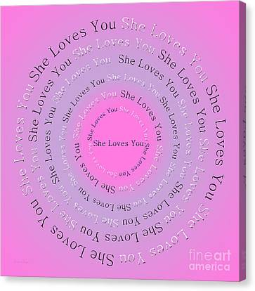 She Loves You 2 Canvas Print by Andee Design