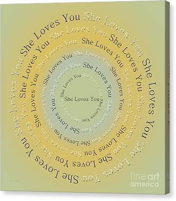 She Loves You 4 Canvas Print by Andee Design