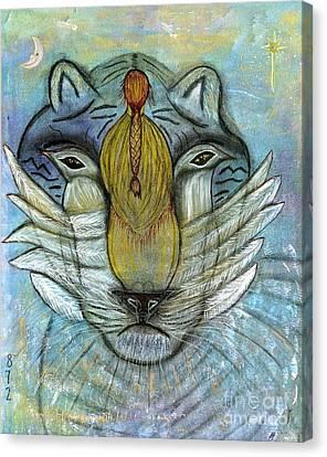 She Prays Canvas Print by Nancy TeWinkel Lauren