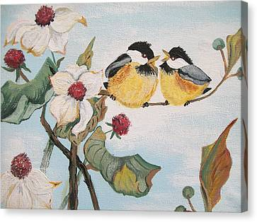 Canvas Print featuring the painting She Said by Sharon Duguay