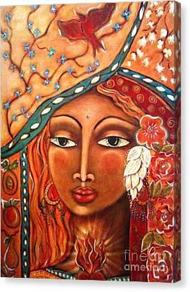 She Sees Canvas Print by Maya Telford