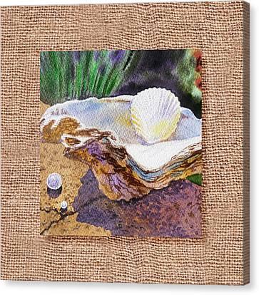 Seashell Fine Art Canvas Print - She Sells Sea Shells Decorative Design by Irina Sztukowski