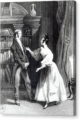 She Then Told Him What Mr Darcy Had Voluntarily Done For Lydia Canvas Print