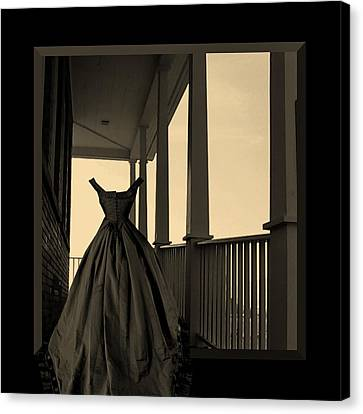 She Walks The Halls Canvas Print by Barbara St Jean