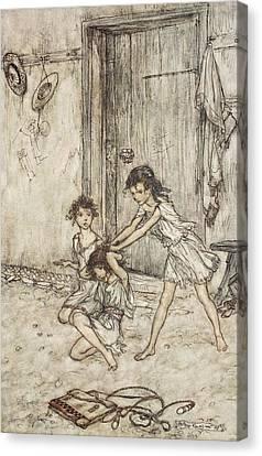 Schoolroom Canvas Print - She Was A Vixen When She Went by Arthur Rackham