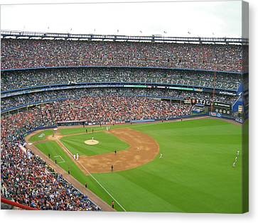 Shea Stadium Canvas Print by Georgia Fowler