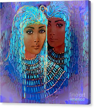 Middle East Canvas Print - Sheba's Daughters by Jean Marie Bowcott