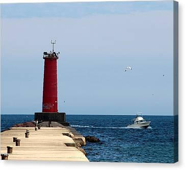 Sheboygan Breakwater Lighthouse Canvas Print
