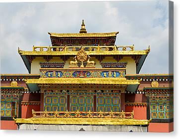 Shechen Monastery In Kathmandu Canvas Print by Dutourdumonde Photography