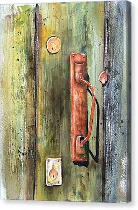 Shed Door Canvas Print by Sam Sidders