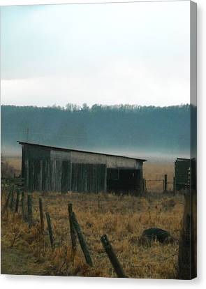 Shed In A Field Canvas Print