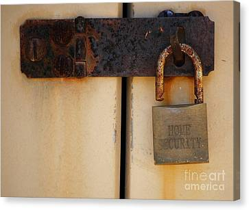 Shed Lock   Canvas Print by Bobby Mandal