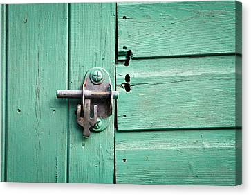 Shed Lock Canvas Print by Tom Gowanlock