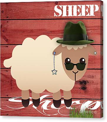 Sheep Collection Canvas Print by Marvin Blaine