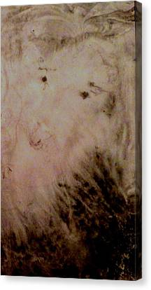 Canvas Print featuring the painting Sheep Dog by Mike Breau