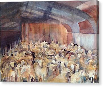 Canvas Print - Sheep Herding by Lynne Bolwell