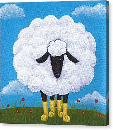 Sheep Canvas Print - Sheep Nursery Art by Christy Beckwith