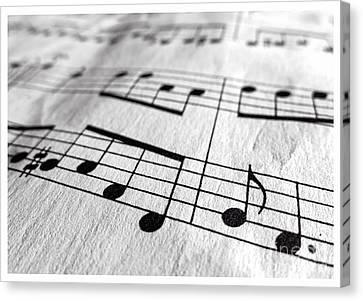 Sheet Music Closeup Canvas Print by Edward Fielding