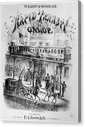 Sheet Music Cover, 1875 Canvas Print by Granger
