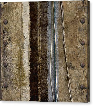 Sheetmetal Strings Canvas Print by Carol Leigh