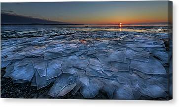 Sheets Canvas Print - Sheets Of Ice by Susan Breau