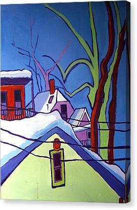 Sheffield Winter Canvas Print by Debra Bretton Robinson