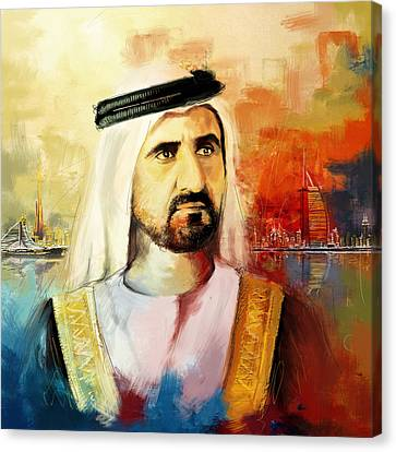 Sheikh Mohammed Bin Rashid Al Maktoum Canvas Print by Corporate Art Task Force