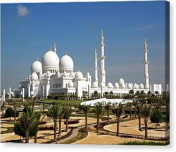 Sheikh Zayed Bin Sultan Al Nahyan Grand Canvas Print by Panoramic Images