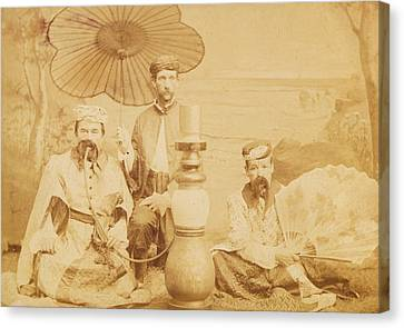 Canvas Print featuring the photograph Sheiks by Paul Ashby Antique Image