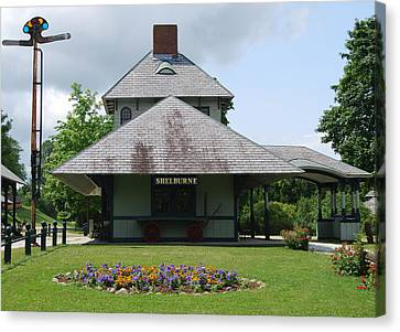 Canvas Print featuring the photograph Shelburne Depot by Caroline Stella