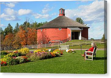 Canvas Print featuring the photograph Shelburne Round Barn by Paul Miller