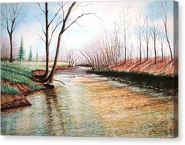 Canvas Print featuring the pastel Shelby Stream by Stacy C Bottoms