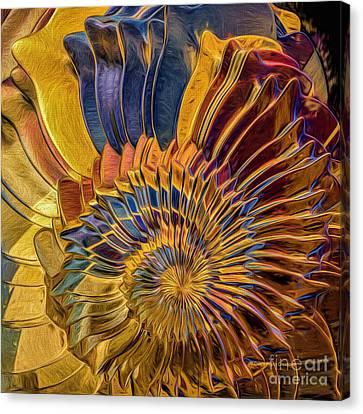 Shell Explosion Canvas Print by Deborah Benoit