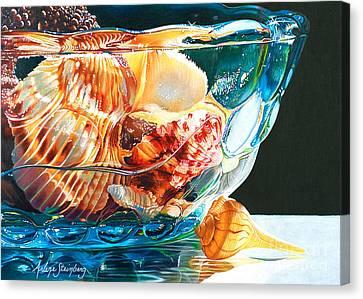 Shell Game Canvas Print by Arlene Steinberg