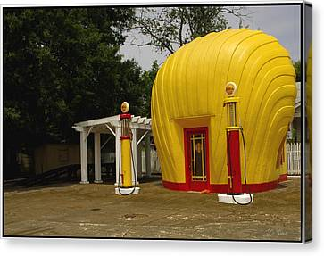 Shell Oil Gas Station Canvas Print by James C Thomas