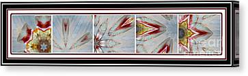 Shell Shock Red Pentaptych Canvas Print by Barbara Griffin