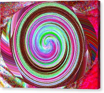 Canvas Print featuring the digital art Shell Shocked by Catherine Lott